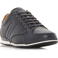 Hugo Boss Saturn Low Tumbled Leather Trainers, Blue