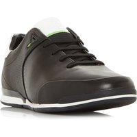 Hugo Boss Saturn Low Perforated Leather Trainers, Black