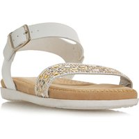 Linea Luulah Embellished Flexi Sandals, White