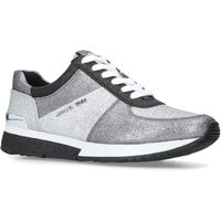 Michael Kors Allie Wrap Flat Lace Up Trainers, Silver