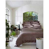 Gingerlily Cocoa silk fitted sheet
