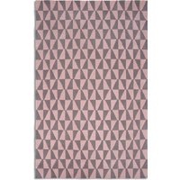 Plantation Rug Co. Geometric 100 Wool Rug - 150x230 PinkGrey, Pink