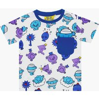 Fabric Flavours Kids Mr Men Repeat Print Blue T-Shirt, Blue - Mr Men Gifts