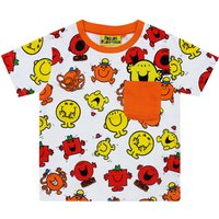 Fabric Flavours Kids Mr Men Repeat Print Red T-Shirt, Red - Mr Men Gifts