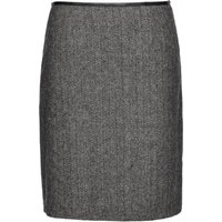 Smart & JoySmart & Joy Marled Wool Formal Mini Skirt, Grey