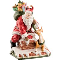 Aynsley Santa on Roof Ornament