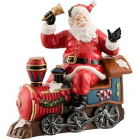 Aynsley Santa on Train ornament