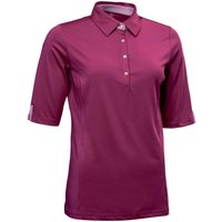 Abacus Karin 12 Sleeve Polo, Purple