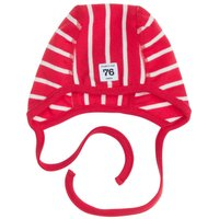 Polarn O. Pyret Babies PO.P Stripe Helmet Hat, Red