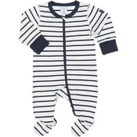Polarn O. Pyret Babies Striped All-in-one Pyjamas, Blue