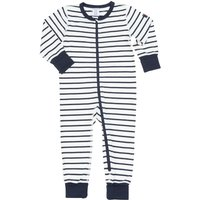Polarn O. Pyret Baby Striped All-in-one Pyjamas, Blue