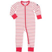 Polarn O. Pyret Baby Striped All-in-one Pyjamas, Red