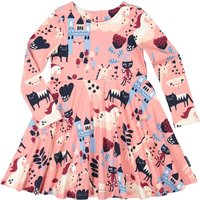 Polarn O. Pyret Girl Fairy Tale Print Dress, Pink - Fairy Gifts
