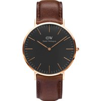 Daniel Wellington Classic Blk Bristol 40 Rose Gold watch, Brown