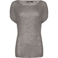 Replay Short-sleeve knitted jumper, Grey