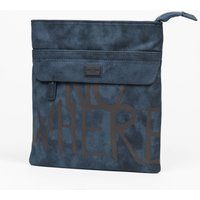 Antony Morato Messenger Bag In Vintage-Look Faux Leather, Blue