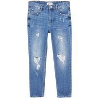 Mango Relaxed Girlfriend Jeans, Blue