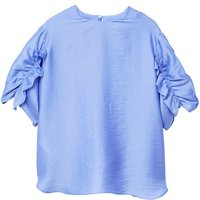 Mango Ruched satin blouse, Lilac - Lilac Gifts