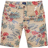 Men's Pepe Jeans Mc Queen Short Hawaiian 14 Length Short, White - Hawaiian Gifts