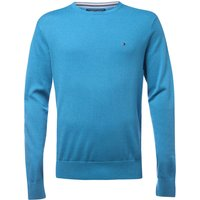 Men's Tommy Hilfiger Plaited cotton silk jumper, Bright Blue