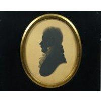 19th Century Regency Silhouette Gentleman by William Alport Taken At William Bullock Museum Liverpool Circa 1808 Jane Austen Period