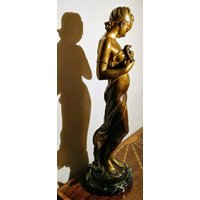 ORIGINAL ART NOUVEAU Figure by Hippolyte Moreau LOiseau Bless