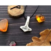 Tiny WODENSTONE Mjolnir in sterling silver