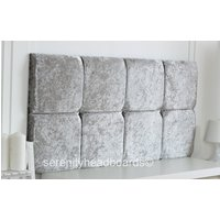 Crushed velvet deluxe headboard choose your size  colour  free p  p!!!
