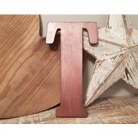 Wooden Letter T  painted and distressed  letter art, interior decor, 25cm, SALE, Clearance