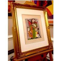 PABLO PICASSO Femme Assise hand signed vintage print c1949 custom framed (Les Editions du Chene, France)