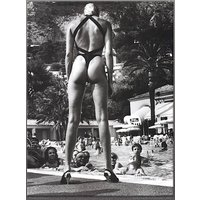 HELMUT NEWTON Brigitte Nielsen hand numbered vintage print c1984 large (Limited edition of 250. Atelier Jobim, Paris)