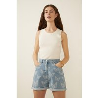 Womens Butterfly Printed Shorts