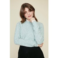 Womens Frill Neck And Cuff Jumper - sage, Sage