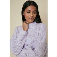 Womens Cosy Stitch Jumper - lilac, Lilac