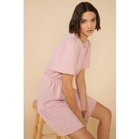 Womens Tiered Textured Mini Dress