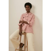 Womens Denim Twill Jacket - pink, Pink