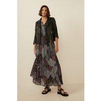 Womens Leather Detail Biker Jacket