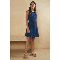 Womens Sleeveless Denim Dress