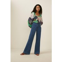 Patchwork Ditsy Square Neck Top