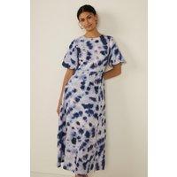 Womens Mixed Splodge Tie Dye Midi Dress - multi, Multi