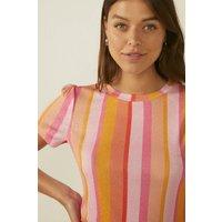 Womens Stripe Mesh Top
