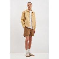 Light Brown Short Drawstring Pull On Shorts