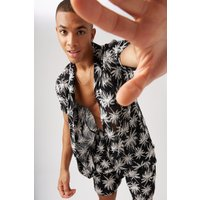 Boxy Fit Floral Print Shirt and Short Set