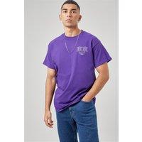 Purple Tokyo Symbol Back Print T-shirt
