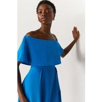 Coast Brooke Bardot Dress -, Blue
