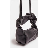 Coast All Over Ruched Bag With Chain Strap -, Black