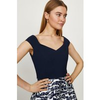 Coast Clipped Jacquard Stripe Dress -, Navy