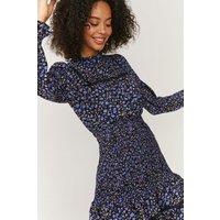 Coast Smock And Crochet Detail Dress -, Blue