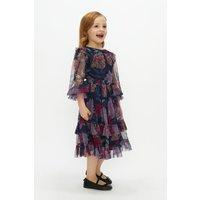 Coast Girls Long Sleeve Floral Tulle Dress -, Purple