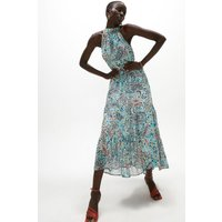 Coast Printed Halter Neck Maxi Dress, Multi